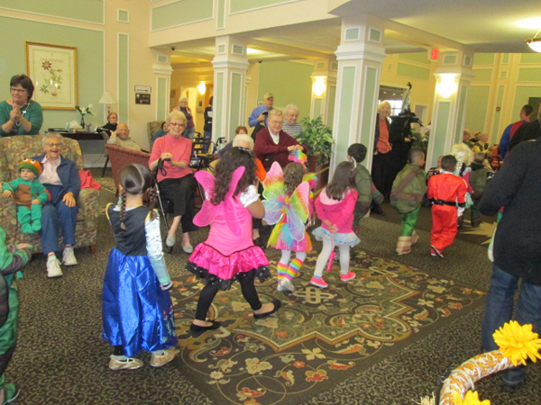 Moravian Village - Halloween Kids