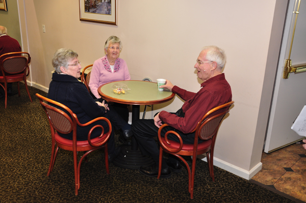 Moravian Village - Seniors conversation
