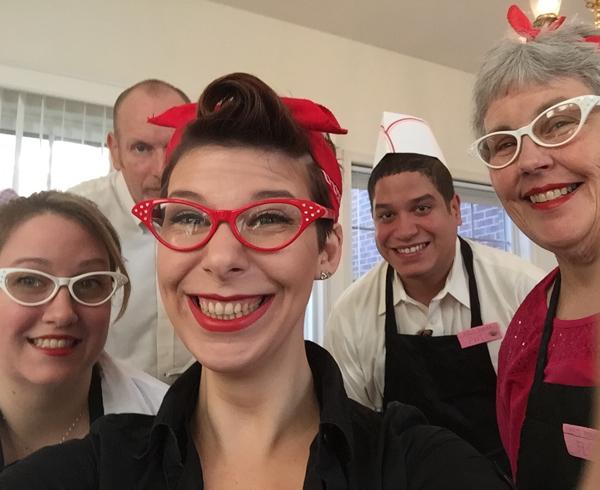 Moravian Village - Group Selfie