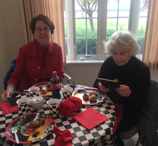 Moravian Village - Having Lunch 2