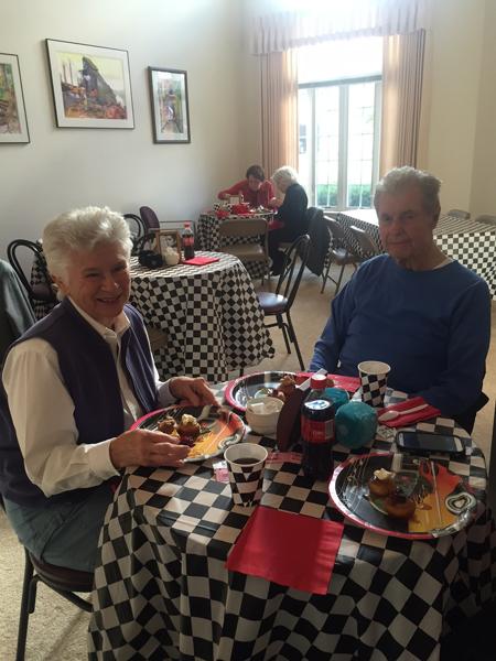 Moravian Village - Having Lunch